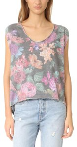 Free People Vintage Soft Vintage Print Burnout T Shirt