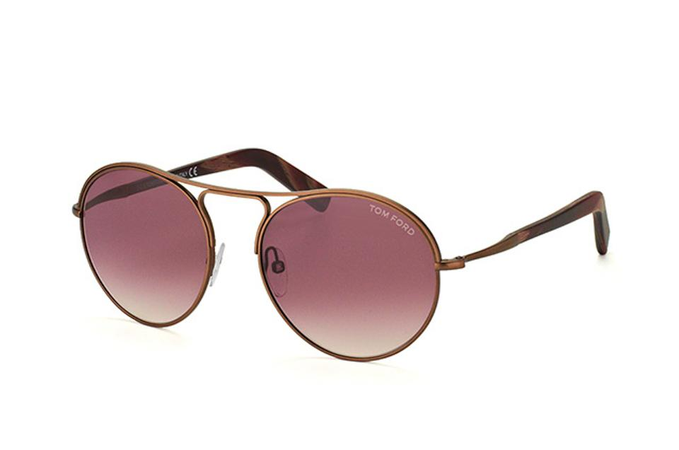 109ba513e7f Tom Ford NEW Tom Ford Jessie Round Matte Metal Brown Sunglasses Image 0 ...
