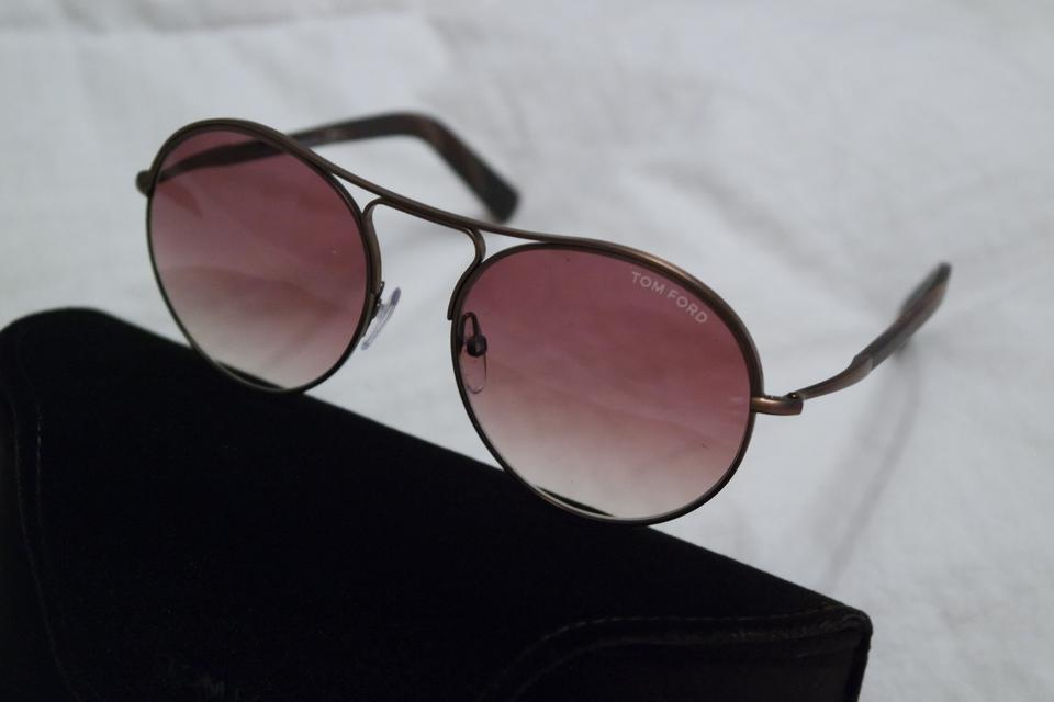 12fd1d20f2e Tom Ford Brown New Jessie Round Matte Metal Sunglasses - Tradesy