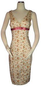 Betsey Johnson short dress multi-color Floral Roses Lace Size 10 on Tradesy