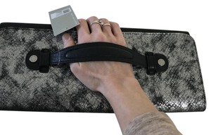 Kenneth Cole Reaction Black and Silver Clutch