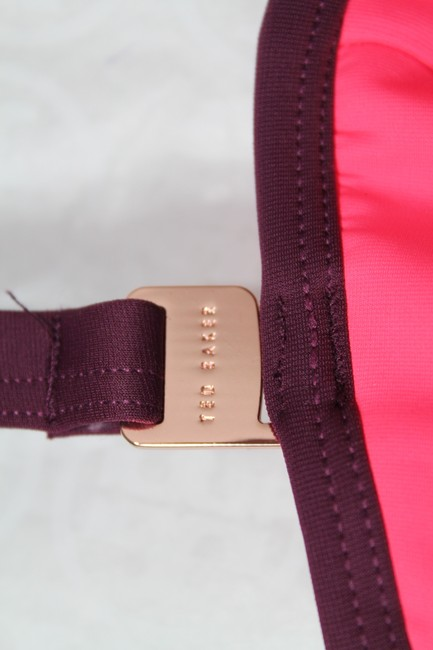 Ted Baker NEW!!! Tags Underwire Halter 32 C/D Push Up Cup Zip Bathing Suit