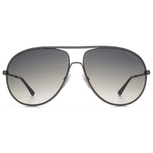 Tom Ford NEW Tom Ford Cliff Aviator Gunmetal Cutout Sunglasses
