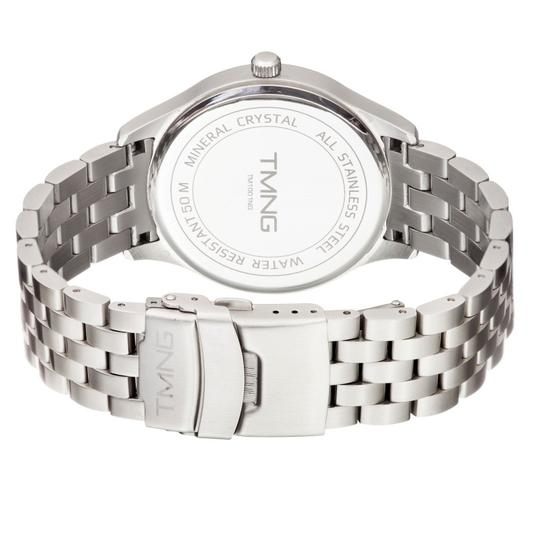 TMNG Men 's TM1001NG Stainless Steel White Dial Watch