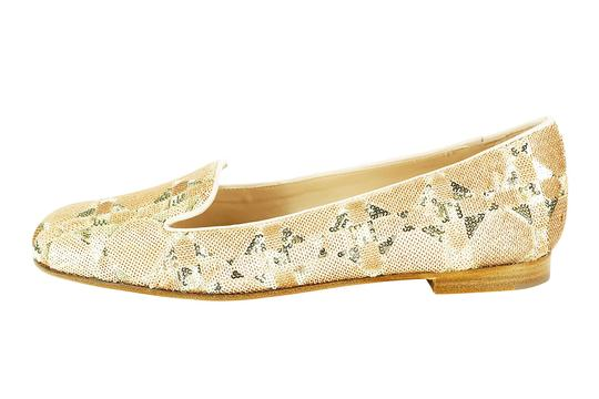Dior Gold Brown Slip On Beige Flats