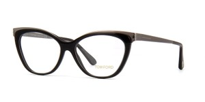 Tom Ford Tom Ford TF5374 Black Cat Eye Silver Metal Eyeglasses Frames