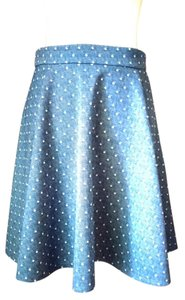 Freeway Apparel Polka Dot Skirt Denim