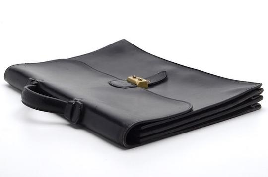 Hermès Vintage Leather Briefcase Leather Laptop Bag