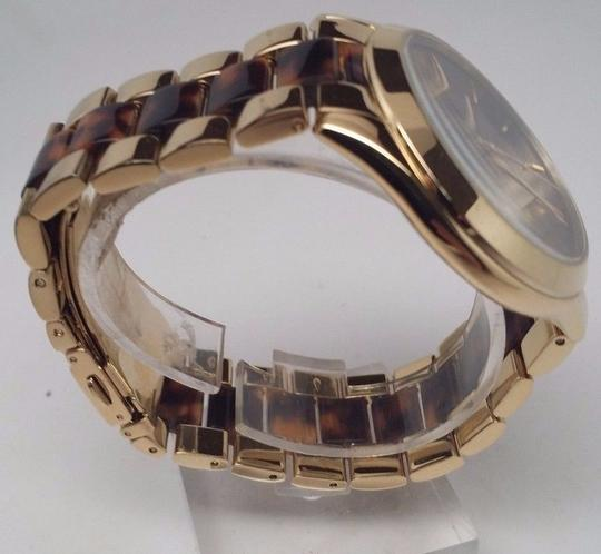 Michael Antonio Kors MK4284 Runway Gold Tortoise Acetate Ladies Watch BROKEN!!!