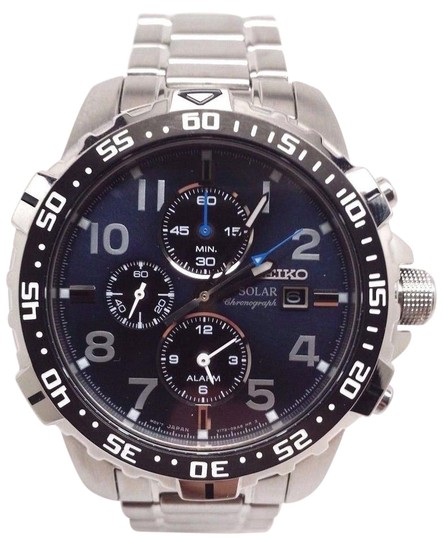 Preload https://item5.tradesy.com/images/iko-stainless-steel-solar-chronograph-blue-dial-ssc305-watch-21260309-0-1.jpg?width=440&height=440