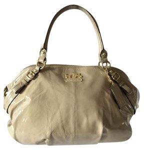 Coach Patent Leather Everydaybag Satchel in Camel