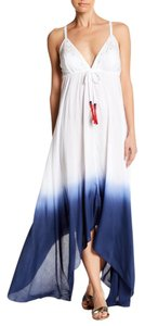 Blue & White Ombre Maxi Dress by Nicole Miller Maxi