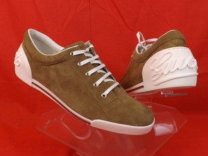 Gucci Light Camel/White Men's Boulevard Suede Script Logo Sneakers 11.5 Us 12.5 Shoes