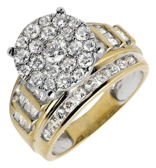 Preload https://img-static.tradesy.com/item/21260465/10k-yellow-gold-flower-round-and-baguette-diamond-engagement-20ct-ring-0-1-540-540.jpg