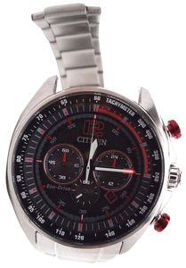 Citizen WDR Eco-Drive Black Dial Mens Watch CA4190-54E