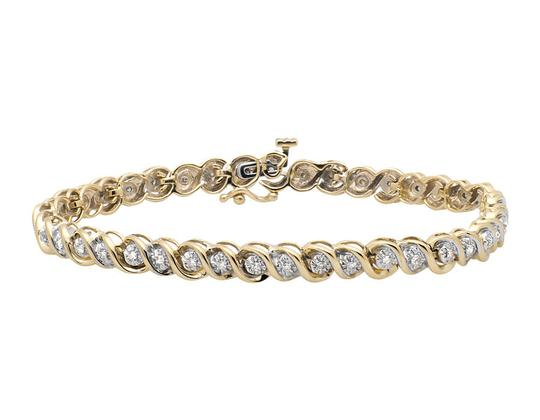 Preload https://img-static.tradesy.com/item/21260523/10k-yellow-gold-5mm-wide-s-link-miracle-set-round-cut-diamond-065ct-bracelet-0-0-540-540.jpg