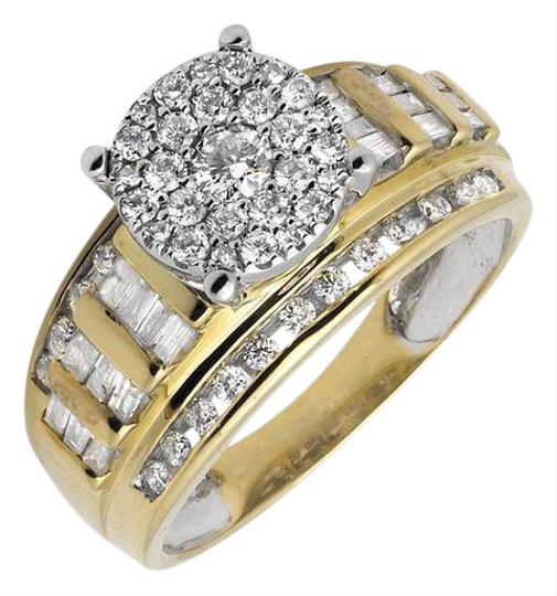 Preload https://img-static.tradesy.com/item/21260543/10k-yellow-gold-flower-round-cut-and-baguette-diamond-engagement-10ct-ring-0-1-540-540.jpg