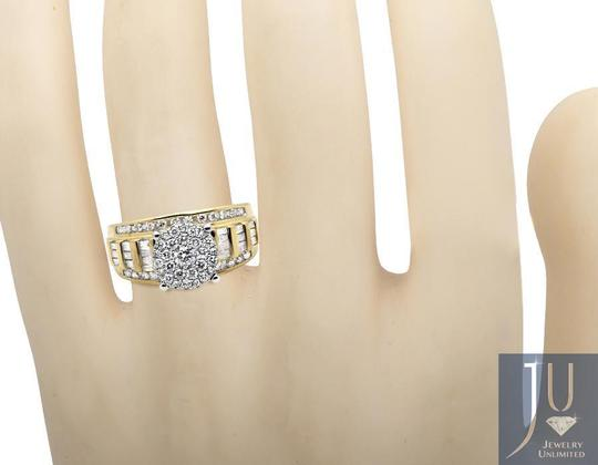 Other Flower Round-Cut and Baguette Diamond Engagement Ring 1.0CT Image 1