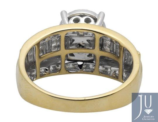 Other Flower Round-Cut and Baguette Diamond Engagement Ring 1.0CT Image 3