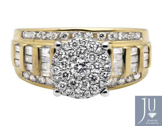 Other Flower Round-Cut and Baguette Diamond Engagement Ring 1.0CT Image 4