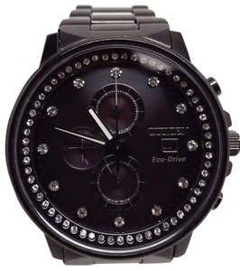 Citizen Eco-Drive Nighthawk Flight Ladies Crystal Chronograph Watch FB3005-55E