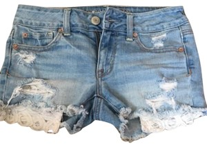 American Eagle Outfitters Cut Off Shorts light wash
