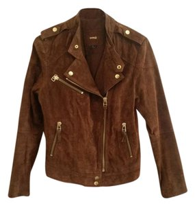 Mango Brown Leather Jacket