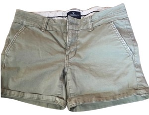 American Eagle Outfitters Cuffed Shorts olive green