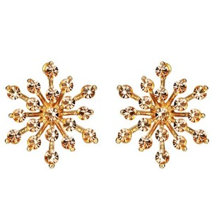 Other Swarovski Crystal Amber Gold Starburst Earrings