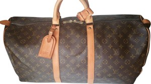 Louis Vuitton Keepall 55 Lv Weekender Brown Travel Bag
