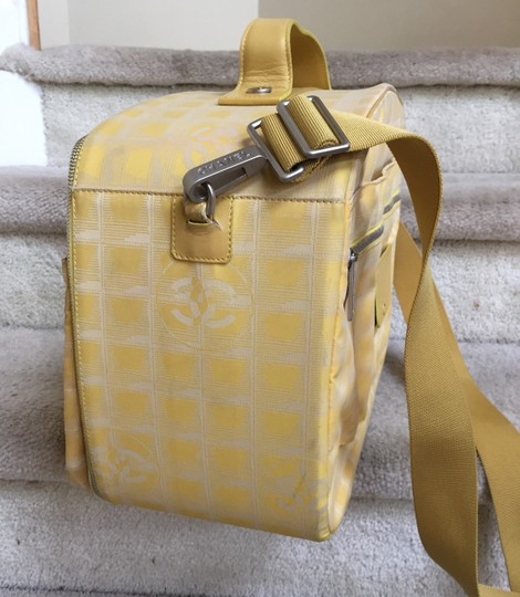 Chanel Carry Luggage yellow Travel Bag