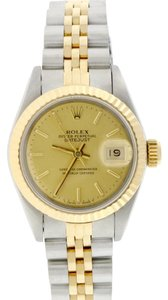 Rolex Rolex Datejust Ladies 2-Tone Original Champagne Stick Dial 26mm Watch