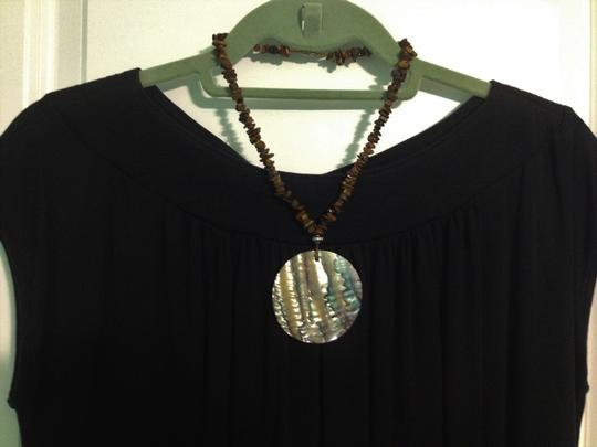 Other Abalone and Natural Stone Pendant Necklace Image 6