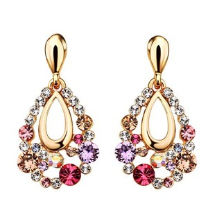 Other Swarovski Crystal Multi Color Drop Earrings