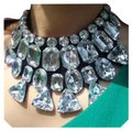 Other New Chunky Crystal Bib Choker Necklace Image 0
