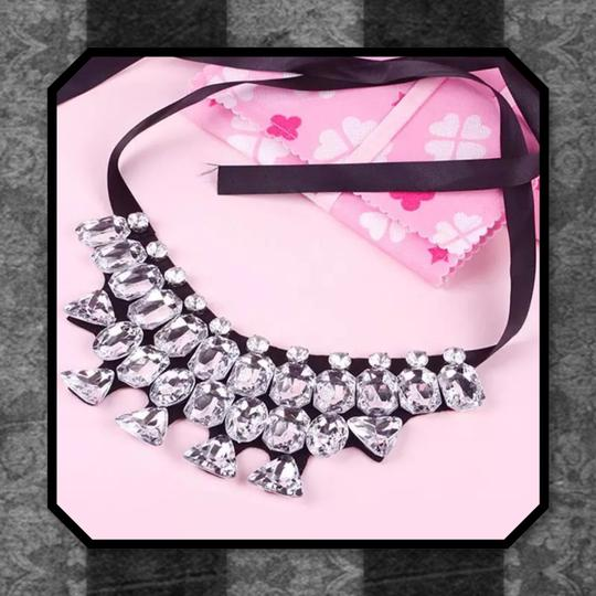 Other New Chunky Crystal Bib Choker Necklace Image 1