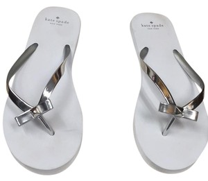 Kate Spade white and Silver Sandals