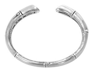 John Hardy Sterling Silver Bamboo Kick Cuff Bangle Bracelet