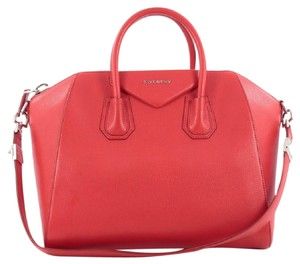 Givenchy Leather Satchel in Red