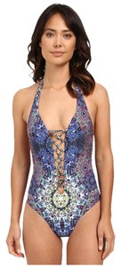 Red Carter Red Carter Polaris Plunge Lace-Up Tank Mio One-Piece