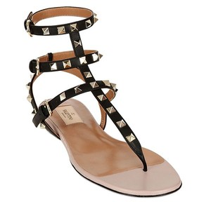 Valentino Rockstud Leather black Sandals