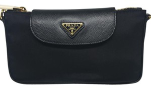 Prada Leather Detachable Chain Cross Body Bag
