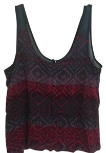 Kirra Top pattern of purple, dark pink, pink, and blue/gray color