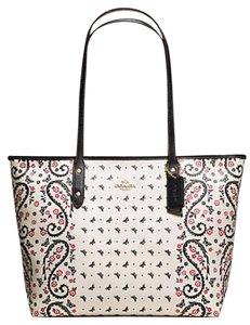 Coach 36875 Satchel 36876 Tote in GOLD/CHALK/ PINK