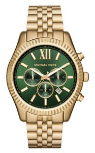 Michael Kors Chronograph Lexington Gold-Tone Stainless Steel Watch 45mm MK8446