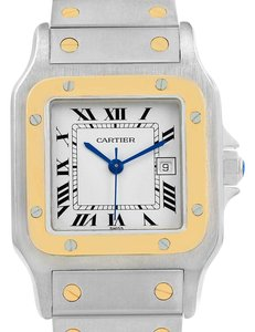 Cartier Cartier Santos Galbee Steel 18K Yellow Gold Mens Watch W20058C4