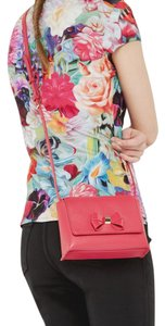 Ted Baker Summer Leather Bow Pink Cross Body Bag
