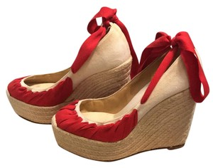 Christian Louboutin red Wedges