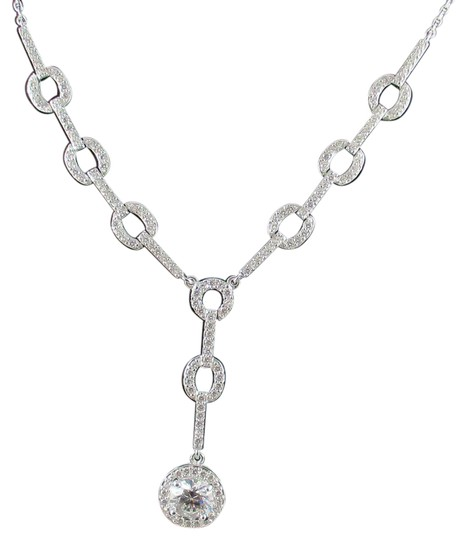 Preload https://img-static.tradesy.com/item/21261846/clear-287ct-pave-circle-link-17-drop-necklace-0-1-540-540.jpg