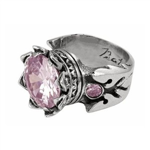 King Baby King Baby Studios 13mm Crown Ring w/Pink CZ